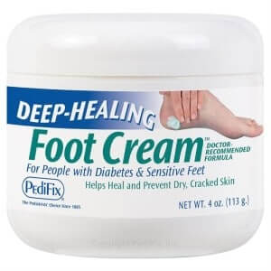 Foot cream to keep feet soft after callous trimming