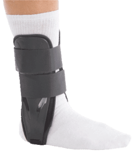 Ankle support brace after a sprain treatment surgery orange county