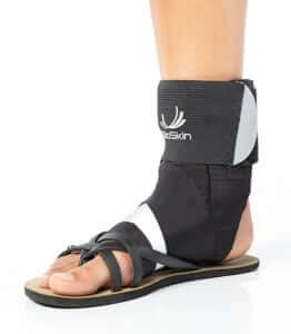 Ankle Sprain southern California expert brace holds the ankle in a comfortable position.